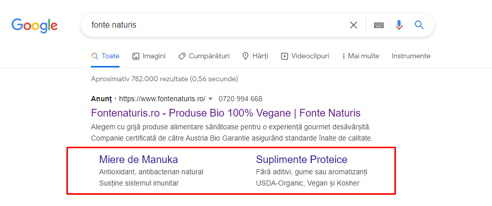 sitelinks google ads
